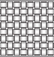 volumetric seamless pattern of intertwined bands vector image vector image