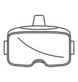 vr glasses headset icon outline style vector image
