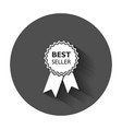 best seller ribbon icon medal in flat style with vector image