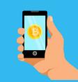 bitcoin phone 1 vector image