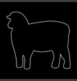 sheep silhouette white color path icon vector image