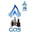 Oil and natural gas industrial factory vector image