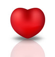 happy valentine s day realistic 3d heart red vector image