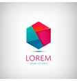 Abstract origami geometric modern logo