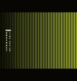 abstract trendy vivid green line on black vector image vector image