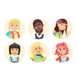 Avatars schoolgirl with backpack vector image vector image