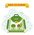 back to school bag vector image
