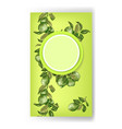 banner with circle frame in bright green colors vector image