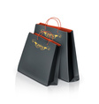 Black paper bags vector image vector image