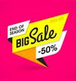 bright big sale banner vector image vector image