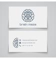 Business card template Brain maze logo vector image vector image