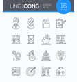 business - set of line design style icons vector image vector image