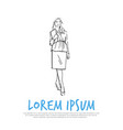 business woman holding folder concept vector image vector image