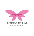 - butterfly conceptual simple colorful icon logo vector image vector image