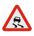 car on dangerous road icon flat style vector image vector image