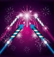 celebration of fireworks night scene icon vector image vector image