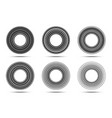 circular striped line frame set circle lines logo vector image