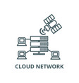 cloud network line icon cloud network vector image vector image