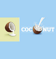 coconut milk splash vector image vector image