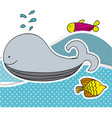 color aquatic animals in the sea icon vector image vector image