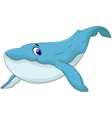 cute blue whale cartoon for you design vector image vector image