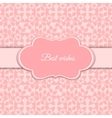 Cute romantic pink floral card vector image vector image