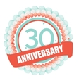 Cute Template 30 Years Anniversary with Balloons vector image vector image