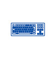 detailed keyboard line icon concept detailed vector image vector image