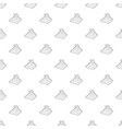 eastern castle pattern seamless vector image vector image