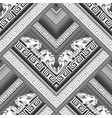 greek black and white floral seamless vector image