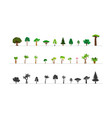 green forest tree icons vector image
