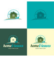 house logo and icon vector image vector image