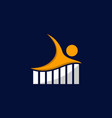 human charts business logo design vector image vector image