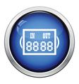 Icon of football referee scoreboard vector image vector image