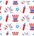 independence day america festive pattern vector image vector image