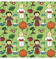 Japan culture seamless pattern vector image