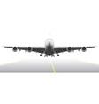 Landing aircraft vector image vector image