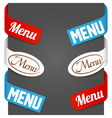 left and right side signs - menu vector image vector image