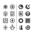light and dark icon set vector image vector image