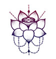 lotus flower with string of beads vector image