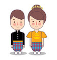 makassar macassar province wedding couple cute vector image vector image