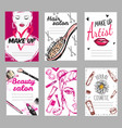 make up shop poster set vector image vector image
