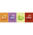 many fresh drops on different color backgrounds vector image vector image
