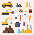 mining industry and tools on vector image