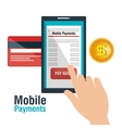 mobile payments business icon vector image