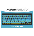 modern and vibrant blue keyboard clipart template vector image