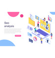 modern flat design isometric concept vector image vector image