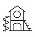 monochrome outline children s play complex icon vector image vector image