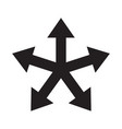 multiple arrow direction icon vector image vector image