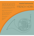 Musical instruments graphic template French horn vector image vector image